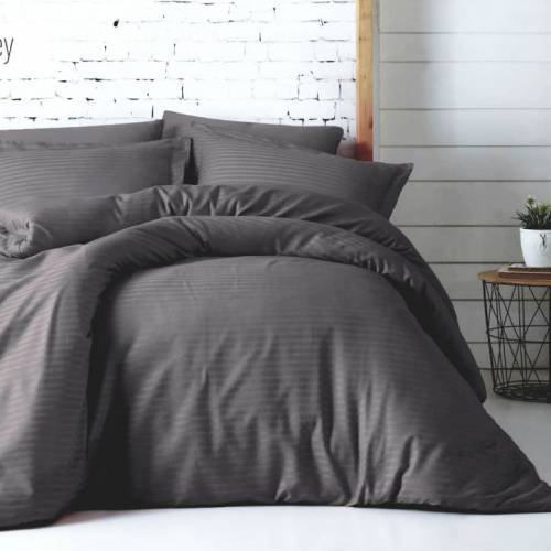 Mossy Line Satin Duvet Cover Set